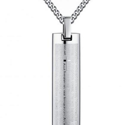 Stainless Steel Men's Lord's Prayer..
