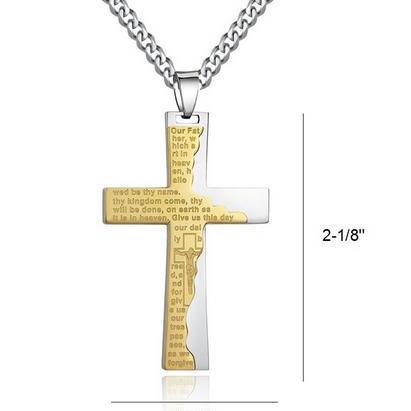 Fashion Stainless Steel Men's Cross..