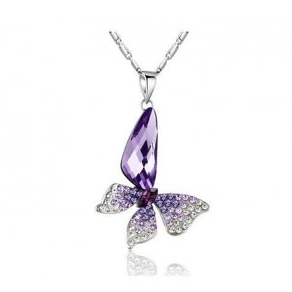 Butterfly Wing Drop Swarovski Eleme..