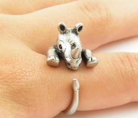 Rhino Animal Ring Je..
