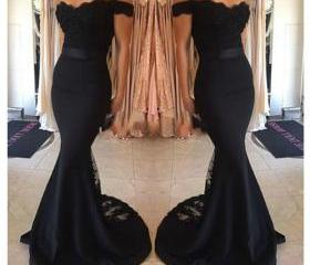 Off Shoulder Black S..