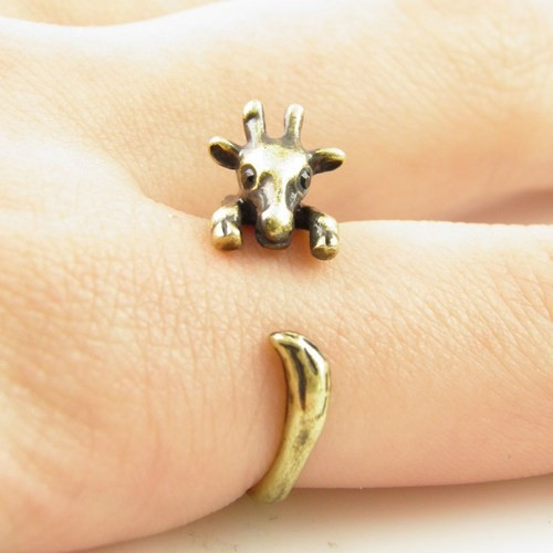 Hot Sale Adjustable Giraffe Animal Wrap Rings