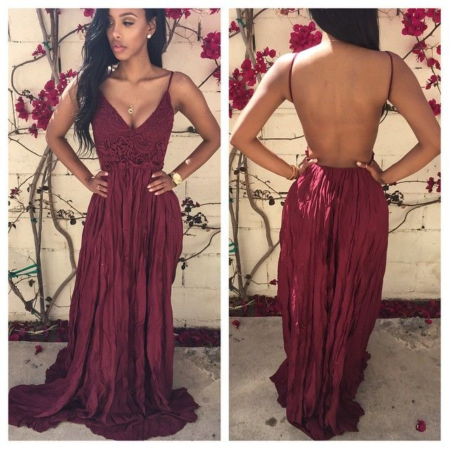 4b342cd4ea Sexy Backless Floor-Length Prom Dress