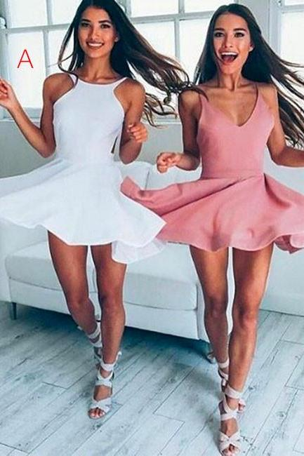 Color White Cute Short Prom Dress