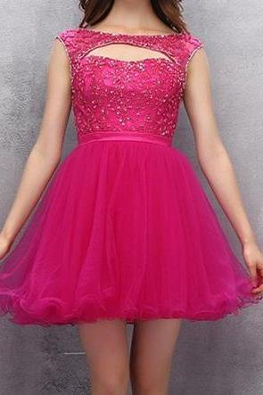 Pink Off the shoulder High Low Homecoming Dress