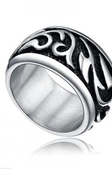 Stainless Steel Celtic Tribal Ring Fashion