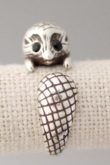 Fashion New Style Adjustable Hedgehog Animal Wrap Ring