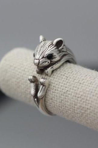 New Style Vintage Adjustable Squirrel Animal Rings for Women