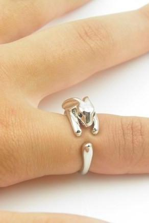 Bunny Animal Ring Jewellery - Silver