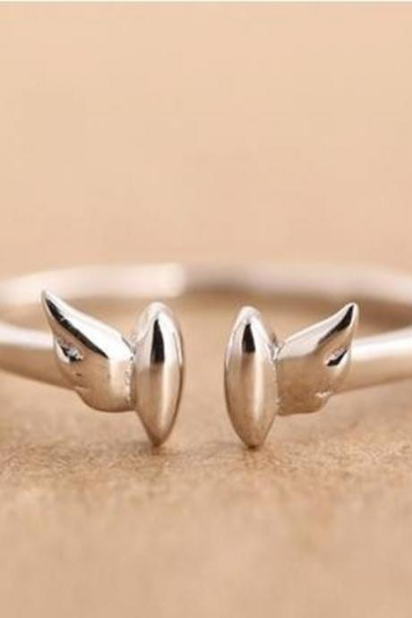 925 Silver Angel Wing Shape Ring