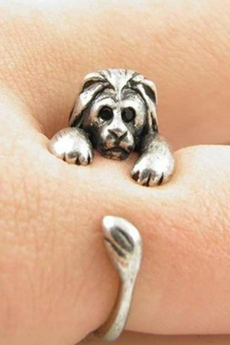 Lion Animal Ring Jewellery - silver alloy