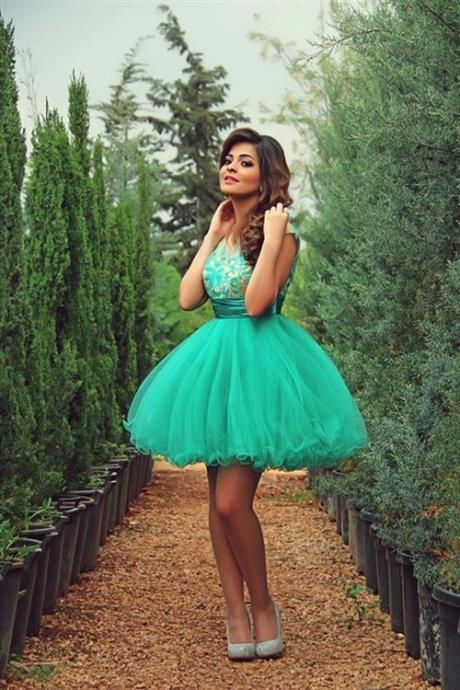 Green Chiffon Homecoming Dress,Homecoming Dresses For Party,Sleevesless Homecoming Dress