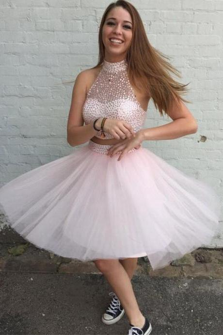 Sweetheart Lovely Two- piece Homecoming Dress,Homecoming Dresses,Party Dress