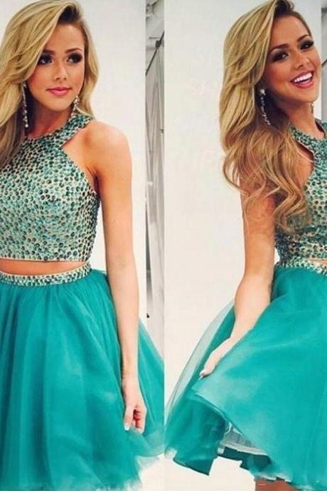 Green Sweet Lovely Short Dress,Homecoming Dresses,Dress For Homecoming
