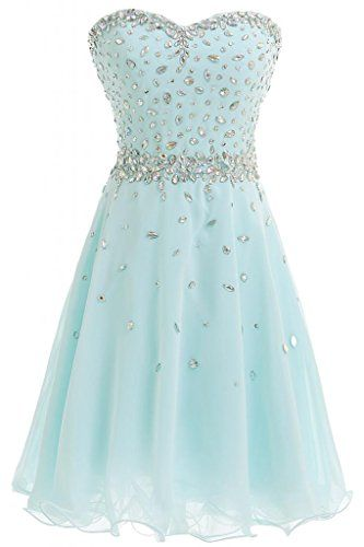 Beading Chiffon Strapless Homecoming Dress,Prom Dress,Homecoming Dresses