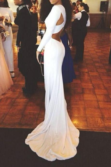 White Satin Cross Back Prom Dress,Dress For Prom,Floor Length Prom Dress