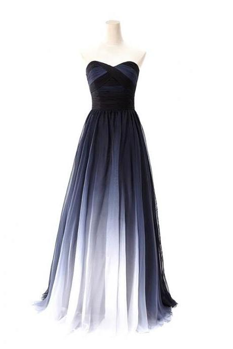 Sweetheart Chiffon Prom Dress,A-Line Prom Dresses