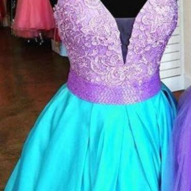 Bright Color Beading Homecoming Dress,A-line Cute Homecoming Dress