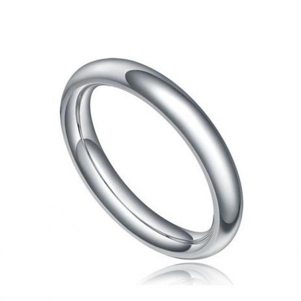 Fashion Fit Polished Plain Wedding Band Ring