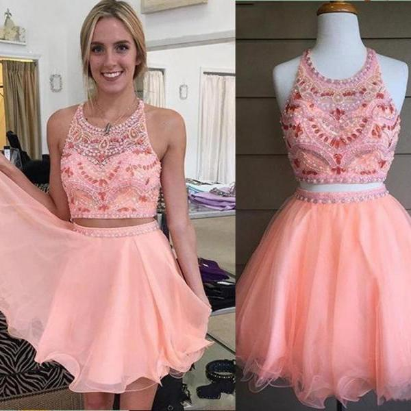 Two-pices Sweetheart Dress,Homecoming Dress,Dress For Homecoming