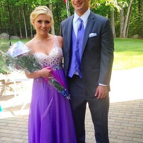One Shoulder Prom Dress,Purple A-Line Prom Dresses,Evening Dress