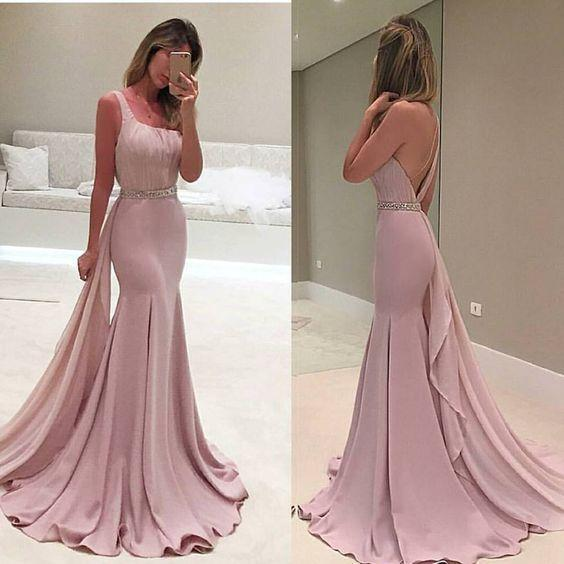 One Shoulder Prom Dress,Mermaid Prom Dresses,Evening Dress